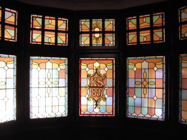 キンバリー 白人邸宅のステンドグラス