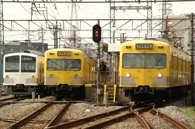 白い電車、黄色い電車
