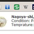 写真: Chromeエクステンション:Tiny Weather(拡大)