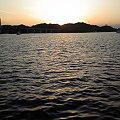 写真: 上島町佐島の夕日