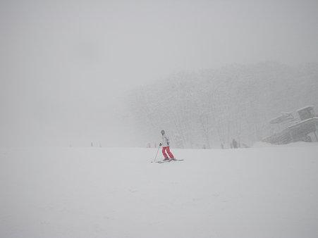 雪が物凄くて。。