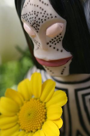 この花は私です そっときれいに咲いたのです