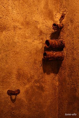防空壕の壁