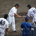 Photos: 黒羽根、村田、井上コーチ