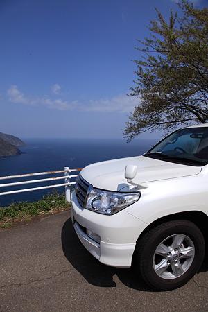 日本海と愛車