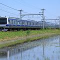 Photos: 水鏡のE531系