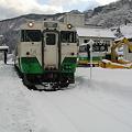 只見線 会津川口駅 キハ40系気動車