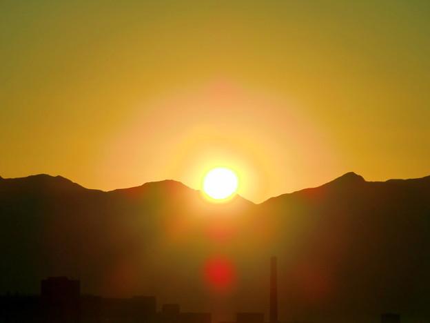 快晴の日の出