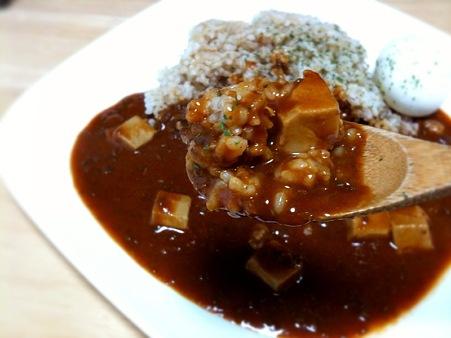 マーボーカレーを食べてみたら、麻婆豆腐のような、カレーのような味だった