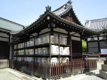 御香宮神社の奉納酒
