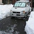 駐車場除雪完了!