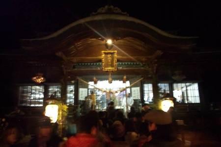 子鍬倉神社で元朝参り
