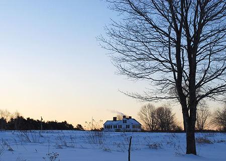 Sunrise and a House 1-25-09