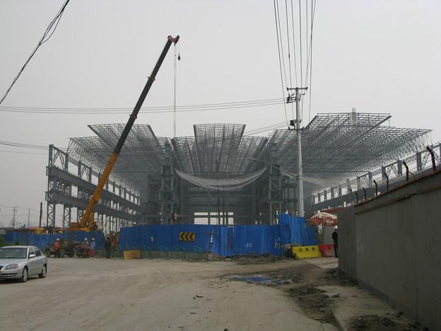 上海万博建設中(たぶん中国館2)