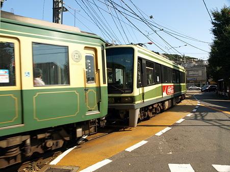 江ノ島→腰越の併用軌道区間7