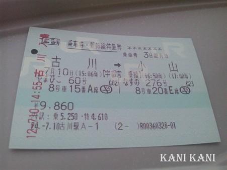 東北新幹線 チケット