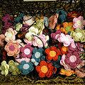 Photos: 手編み花飾り