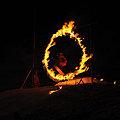 Photos: 火の輪くぐりジャンプ(スノボ2)
