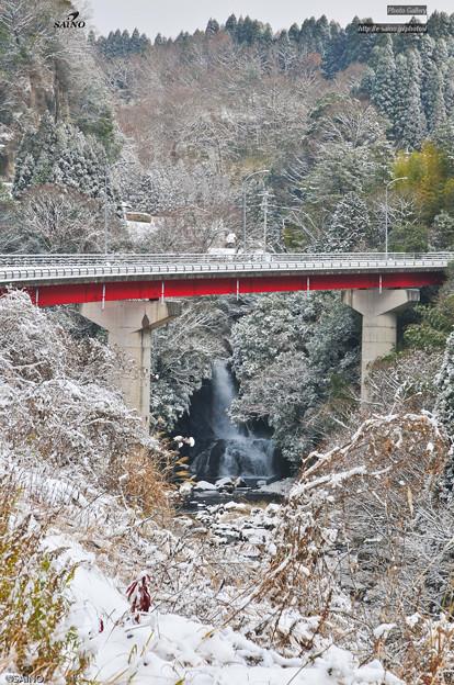 竜宮滝(御岳) 雪景色