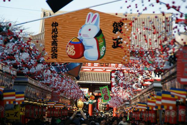 写真: 年末の浅草仲見世!(101218)