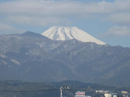 ホームから見える富士山♪