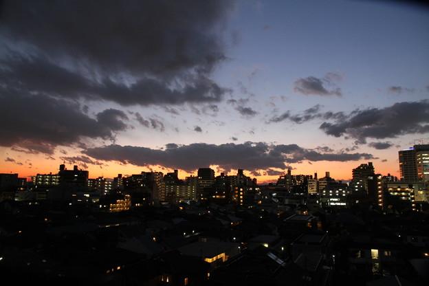 写真: 100106夕焼け17時11分