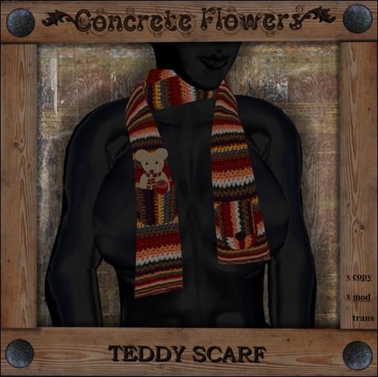 CONCRETE FLOWERS-TEDDY SCARF