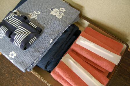 浴衣&タオル&歯ブラシ
