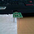 写真: クリップ電極の膨らみ具合
