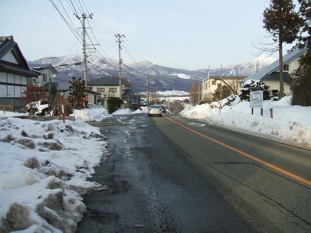 福島県道64号の冬 - 生井 - 下り坂 - 2