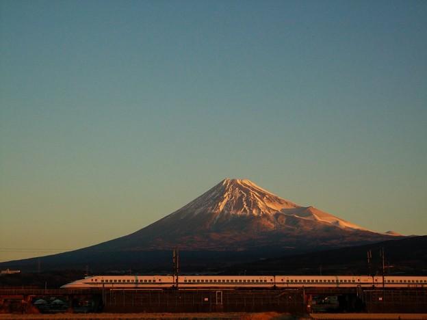 真冬の富士山 700系