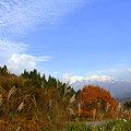 絵を描く人 白山と紅葉(2)