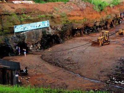 鉱山の入り口