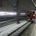 写真: 雪の横浜駅