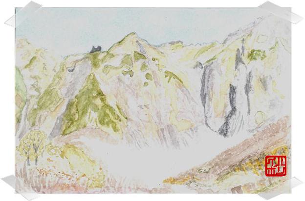 11谷川岳・幽の沢 中央壁とV字状岩壁